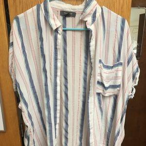 Striped Primark Button Down Shirt